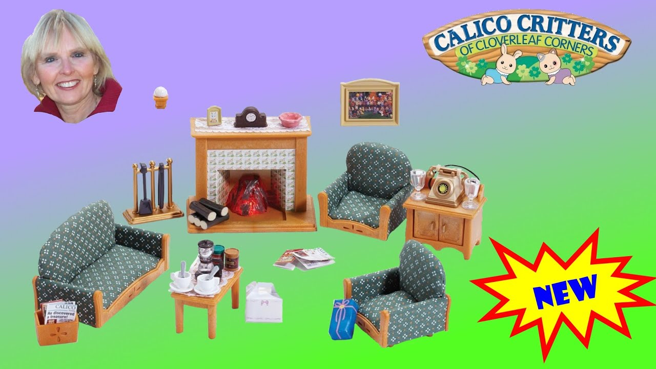 Calico Critters Deluxe Living Room Set Youtube pertaining to Calico Critters Deluxe Living Room Set