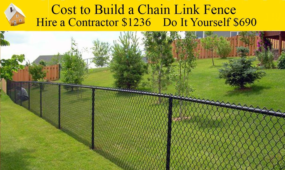Cost To Build A Chain Link Fence Youtube with Cost To Fence A Backyard