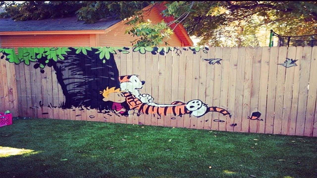 Creative Fence Painting Ideas Youtube with Painting Backyard Fence