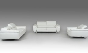 David Ferarri Highline Modern Leather Living Room Set In White with regard to 15 Awesome Concepts of How to Improve White Leather Living Room Set