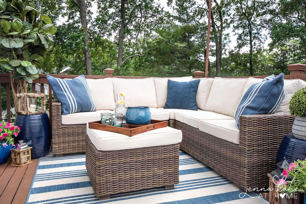 Decorating Ideas For A Small Deck Tips For Creating A Backyard Oasis intended for Backyard Furniture Ideas