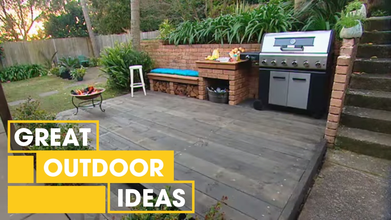 Diy Bbq Area Makeover Outdoor Great Home Ideas Youtube with Best Backyard Bbq Ideas