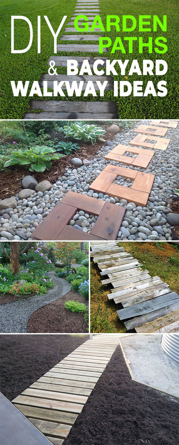 Diy Garden Paths And Backyard Walkway Ideas The Garden Glove regarding Backyard Ideas Diy