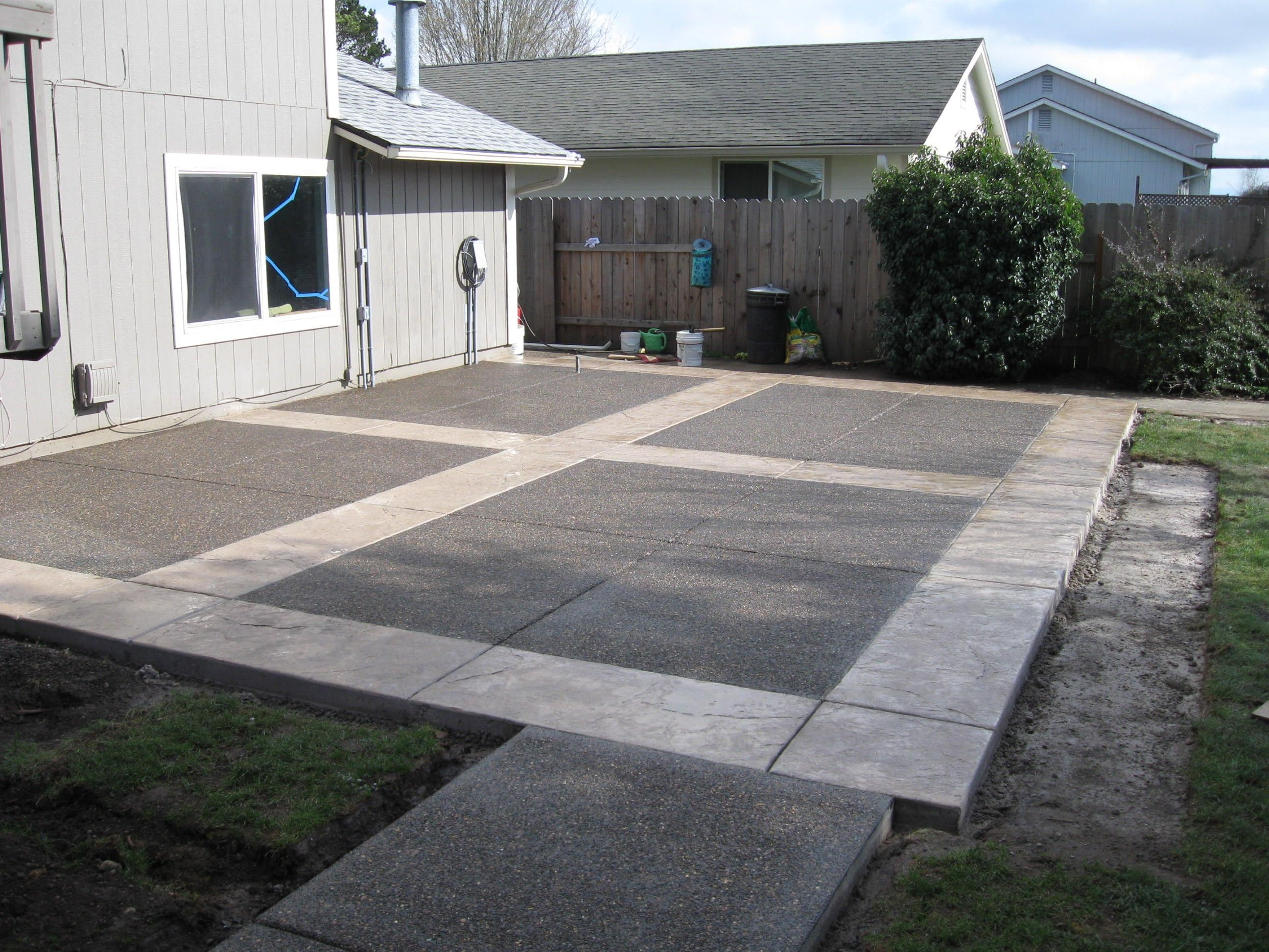 Easy Cement Backyards Google Search Backyard Cement Patio regarding Concrete Patio Ideas Backyard