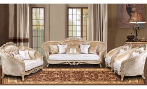 European Furniture Valentina 3pc Livingroom Set In Dark Champagne within Antique Living Room Set