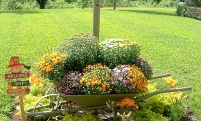 Fall Yard Decoration Ideas Holidays Wheelbarrow Garden Fall regarding 14 Genius Tricks of How to Make Backyard Decoration Ideas