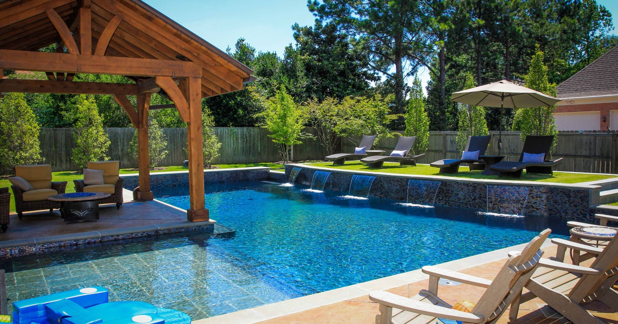 Fascinating Backyard Pool Design Ideas Along With Maple Wood throughout 15 Awesome Designs of How to Craft Pool And Backyard Design Ideas