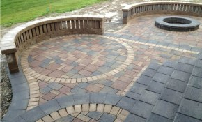 Flooring Amazing Backyard Paver Patio Designs With Sitting Wall And regarding 12 Some of the Coolest Ways How to Improve Backyard Pavers Design Ideas