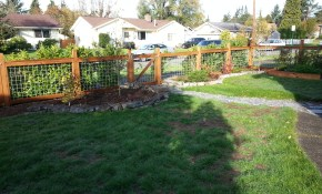How To Build A Beautiful Wood Fence With Hog Wire Brwarrickengineering in 16 Awesome Tricks of How to Makeover How To Build A Backyard Fence
