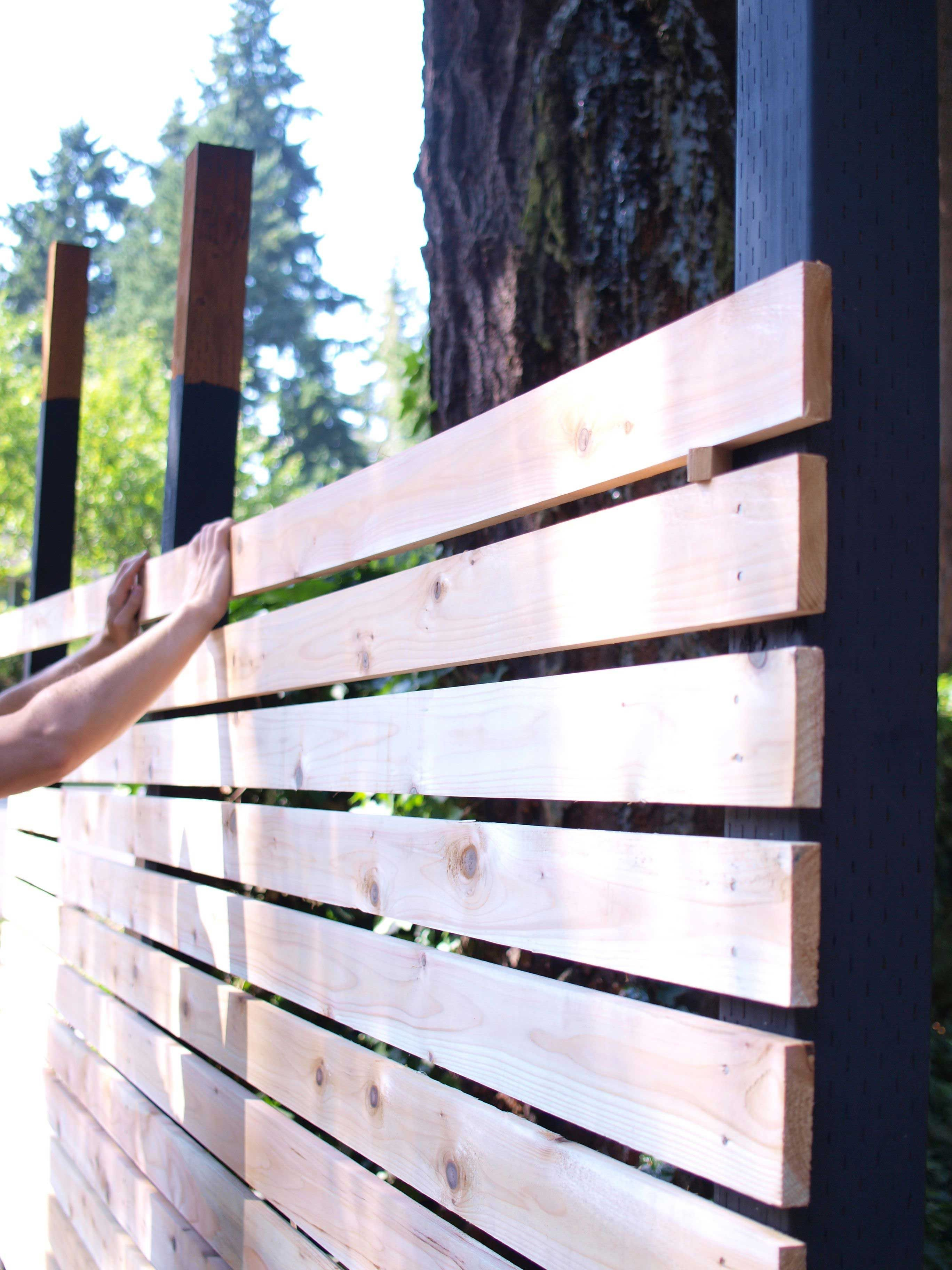 How To Build A Diy Backyard Fence Part Ii In 2019 Backyard Stuff pertaining to How To Build A Backyard Fence