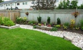 Landscaping Ideas For Backyard On A Budget Easy Low Maintenance in Cheap Backyard Landscaping Ideas Pictures