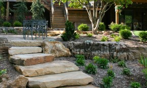 Natural Stone Steps Frisella Nursery Landscapes Backyard regarding Backyard Steps Ideas