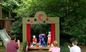 Our Diy Kids Backyard Theater Kids Play Ideas Backyard For in 14 Clever Ideas How to Make Backyard Theater Ideas