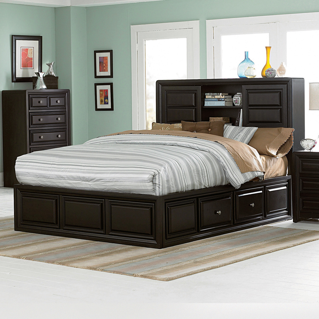 Queen Platform Bed With Storage Type Glamorous Bedroom Design with regard to Modern King Size Platform Bedroom Sets