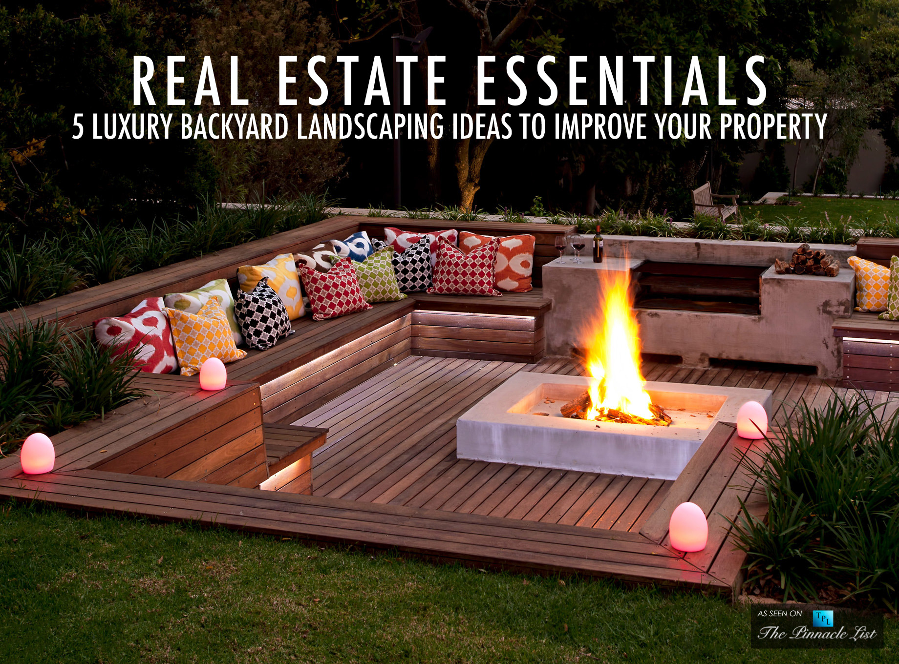 Real Estate Essentials 5 Luxury Backyard Landscaping Ideas To in Luxury Backyard Landscaping