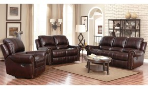 Shop Abson Broadway Top Grain Leather Reclining 3 Piece Living regarding 3 Piece Reclining Living Room Set