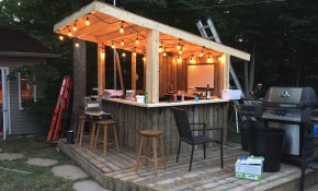 Tiki The Chance To Create An Outdoor Haven With A Tiki Bar Create intended for 13 Awesome Initiatives of How to Build Backyard Bar Ideas