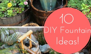10 Inventive Designs For A Diy Garden Fountain Diy Projects Bob intended for Backyard Fountains Ideas