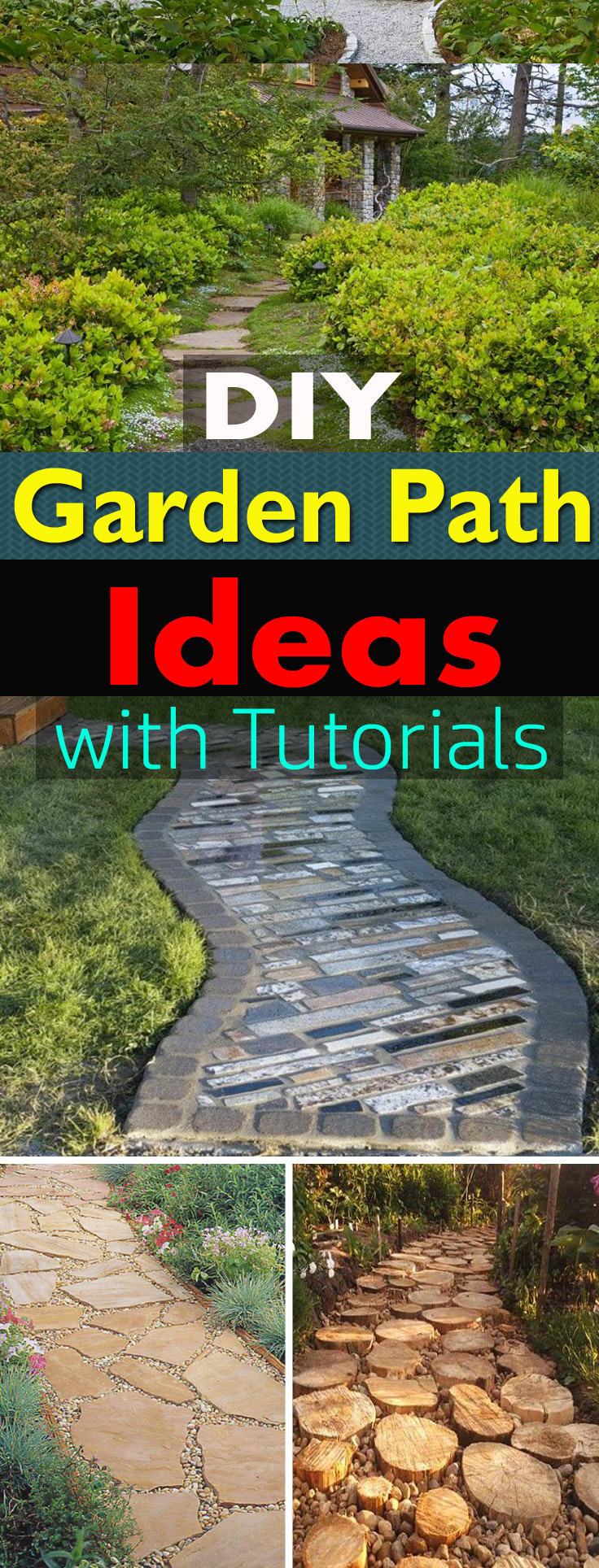 19 Diy Garden Path Ideas With Tutorials Balcony Garden Web with regard to 15 Genius Designs of How to Craft Backyard Sidewalk Ideas