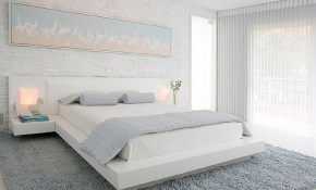 25 Tips And Photos For Decorating A Modern Master Bedroom regarding All White Modern Bedroom