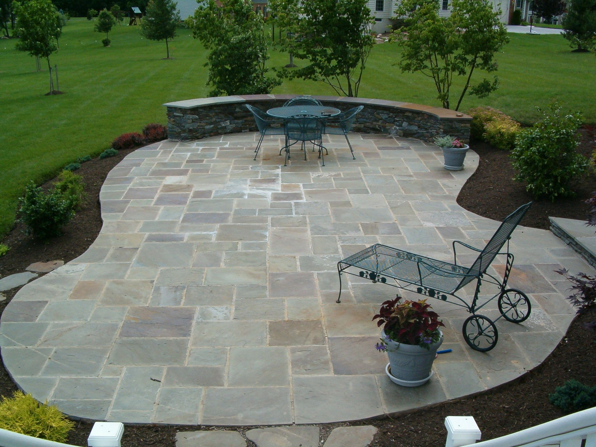 26 Stone Patio Designs For Your Home Outdoor Living Landscaping for 11 Smart Initiatives of How to Craft Backyard Stone Patio Design Ideas