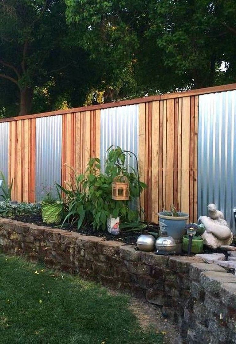 45 Amazing Backyard Privacy Fence Landscaping Low Budget Ideas with 15 Genius Initiatives of How to Upgrade Cheap Backyard Fence