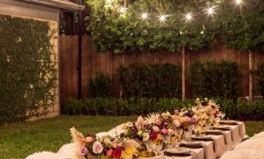 A Bohemian Backyard Dinner Party Outdoor Decor Landscaping Curb with Backyard Decorating Ideas For Parties