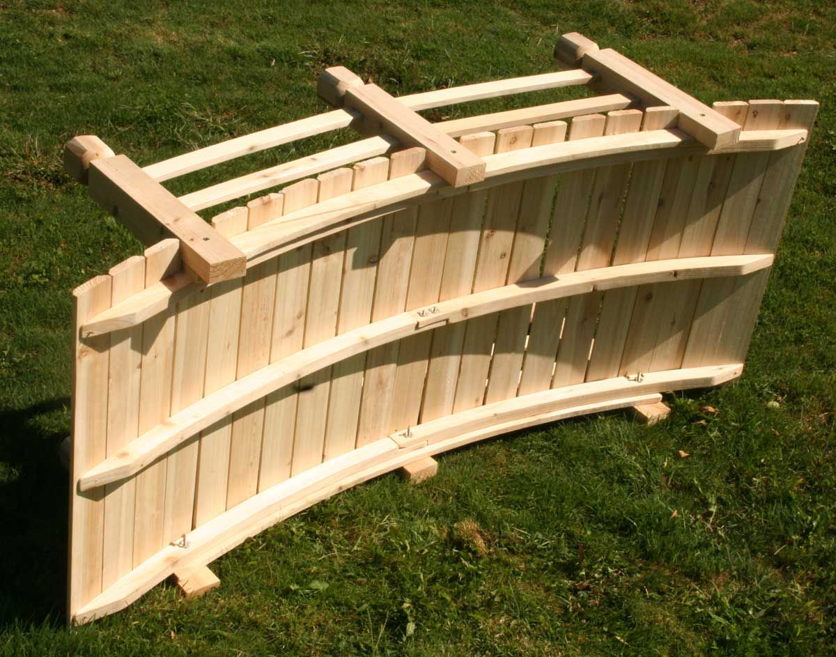 Backyard Bridge Plans White Cedar Economy Garden Bridge Painted for 14 Awesome Ways How to Improve Backyard Bridge Ideas