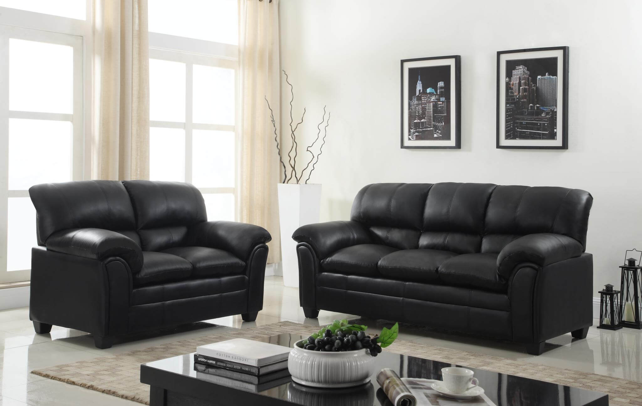 Black Sofa And Loveseat Leather Living Room Sets throughout 14 Some of the Coolest Tricks of How to Improve Black Leather Living Room Sets