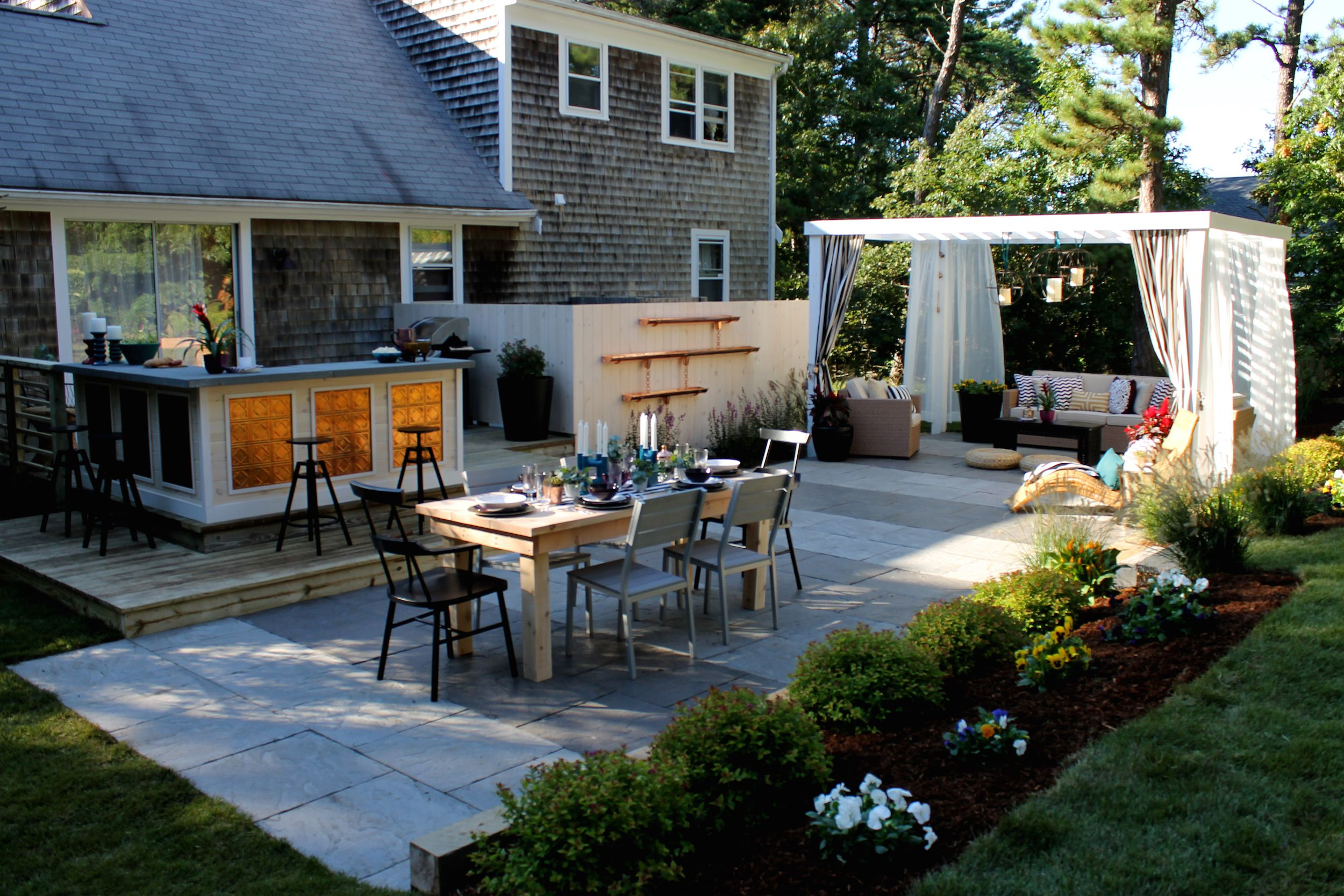 Easy Landscaping Ideas Low Maintenance Landscape Design Tips intended for Pictures Of Landscaped Backyards
