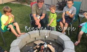 How To Build A Diy Fire Pit For Only 60 Keeping It Simple with regard to Cheap Backyard Fire Pit Ideas