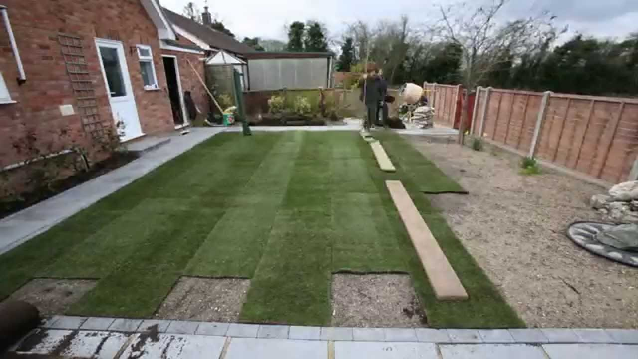 How To Landscape Your Back Garden Youtube inside How To Landscape Your Backyard