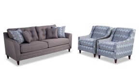 Jaxon Sofa 2 Accent Chairs Bobs throughout Bobs Living Room Sets