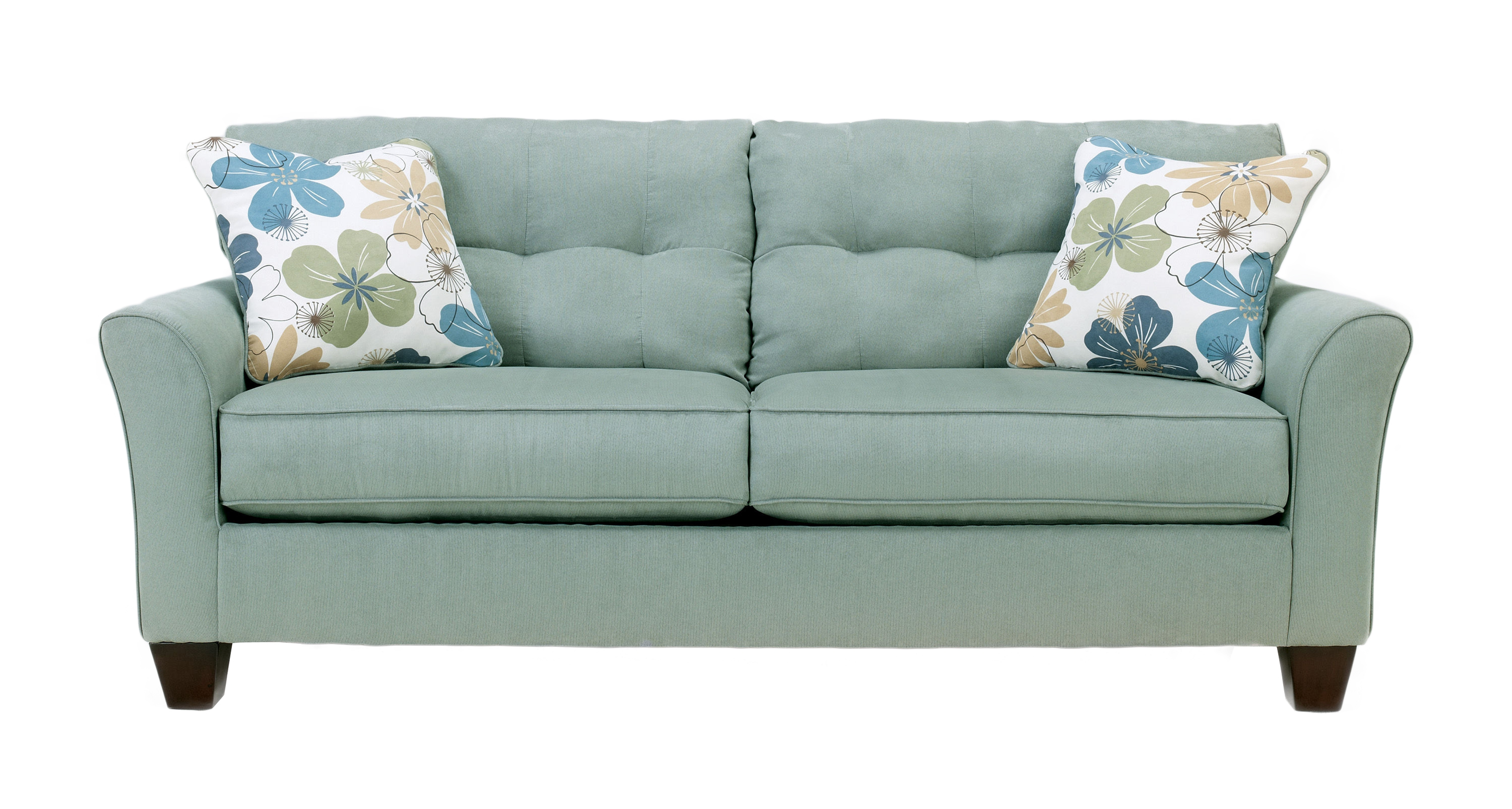 Kylee Contemporary Lagoon Fabric Sofa Wpillow Back The Classy Home inside Kylee Lagoon Living Room Set