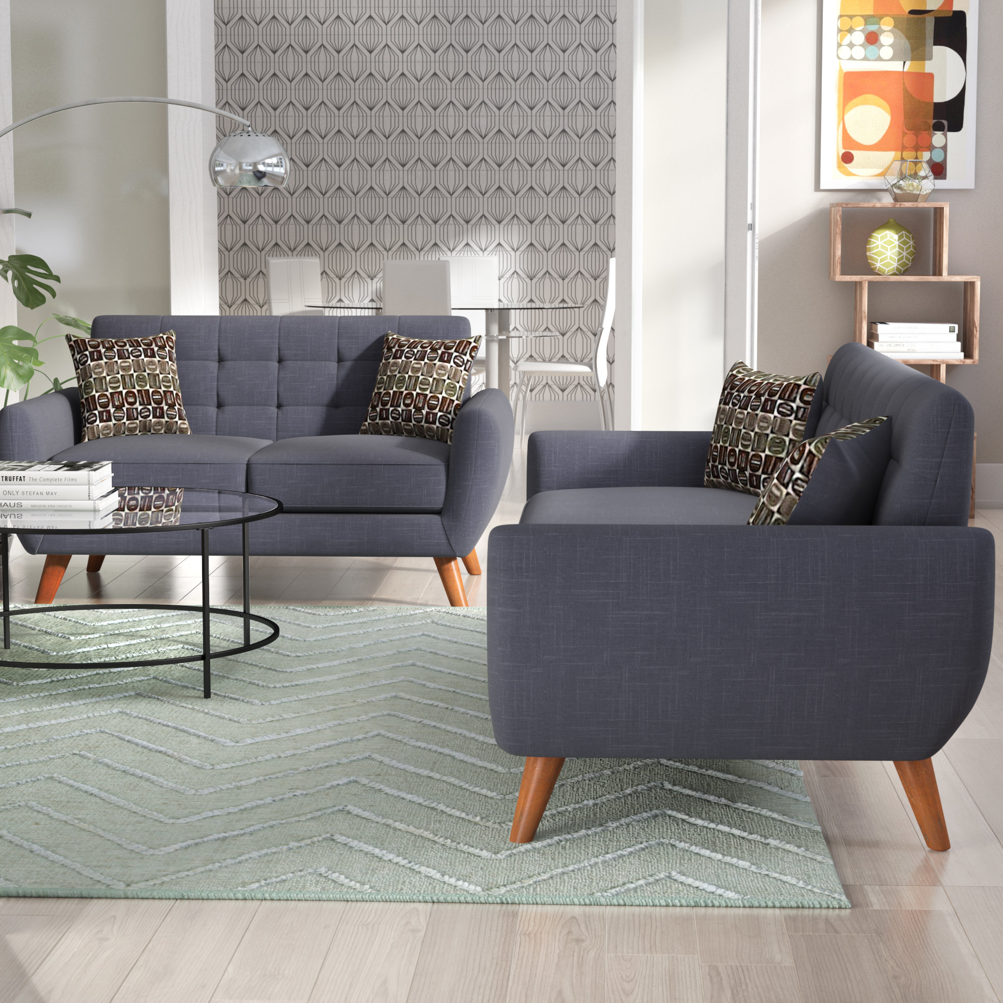 Langley Street Wooten 2 Piece Living Room Set Reviews Wayfair intended for 14 Genius Initiatives of How to Build Sala Set For Small Living Room
