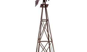 Large Bronze Powder Coated Backyard Windmill W0004 The Home Depot regarding 11 Smart Concepts of How to Upgrade Decorative Backyard Windmill