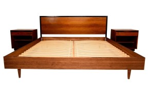 Mid Century Modern Walnut King Size Platform Bed At 1stdibs intended for 13 Genius Initiatives of How to Make Mid Century Modern Bedroom Sets