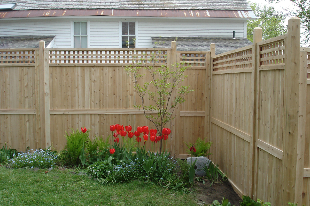 Middlebury Fence Cedar Privacy Fencing In Vermont intended for Privacy Fences For Backyards