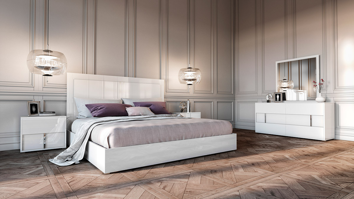 Modrest Nicla Italian Modern White Bedroom Set with regard to 13 Awesome Ideas How to Craft Modern Bedroom Sets