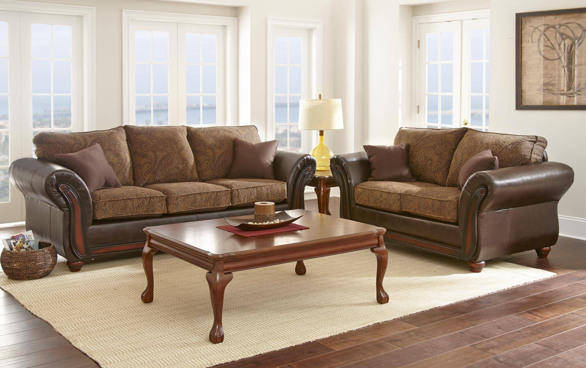 Myco Furniture Brigam Classic Dark Brown Leather Fabric Living inside 14 Some of the Coolest Initiatives of How to Craft Leather Living Room Sets