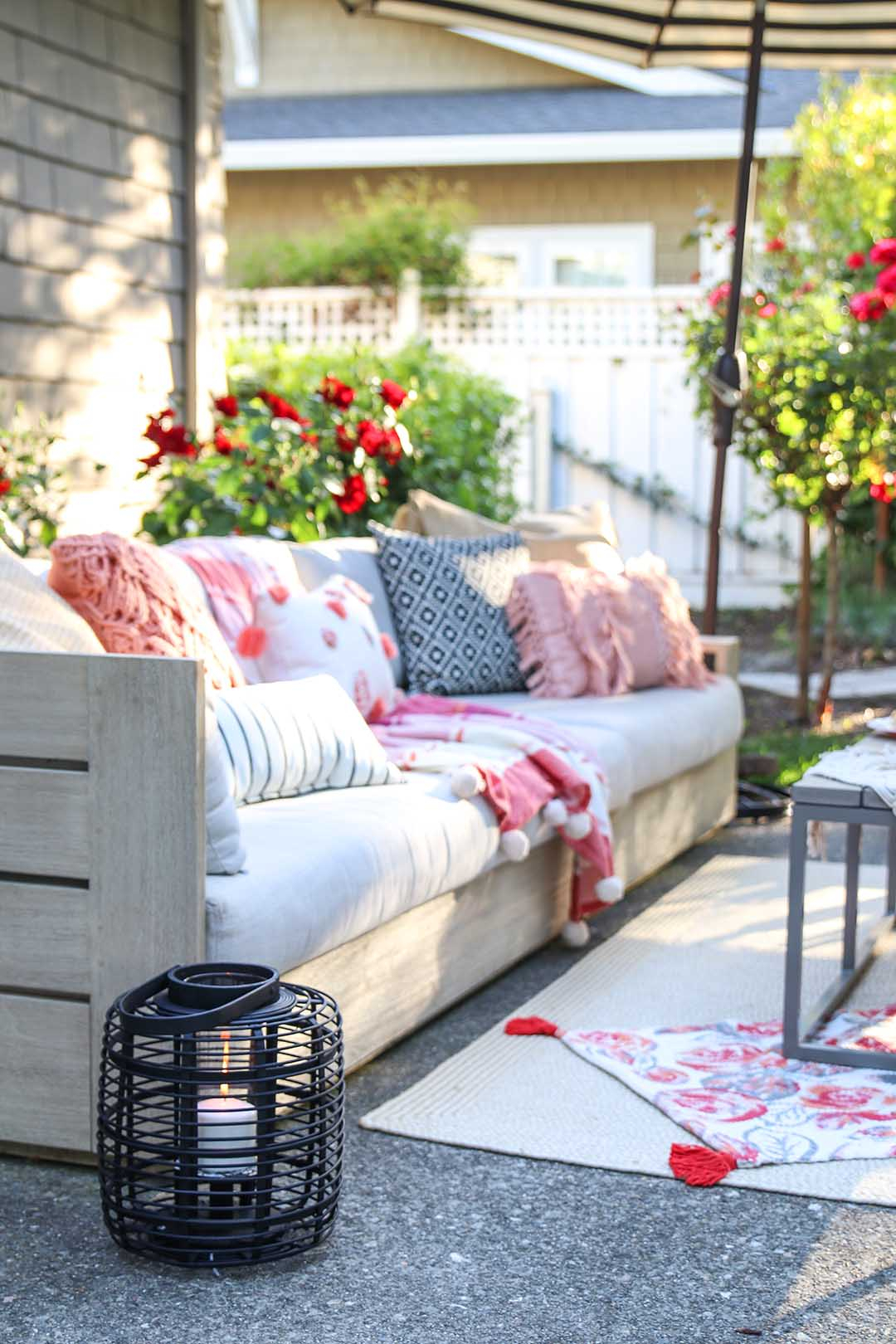 Patio Decorating Ideas 7 Simple Summer Updates Modern Glam pertaining to 16 Smart Designs of How to Makeover Ideas To Decorate Backyard