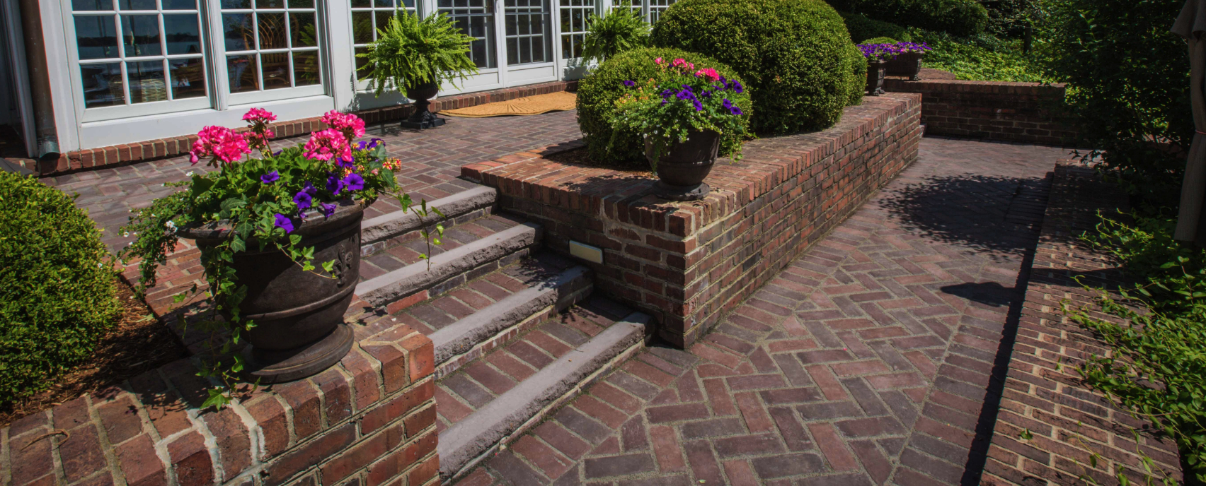 Patio Design Ideas Using Concrete Pavers For Big Backyard Style intended for Backyard Landscaping Ideas With Pavers