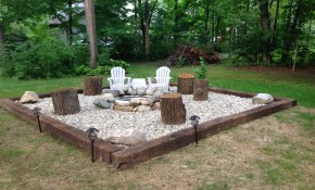 Pin Ashley Miller On Future House In 2019 Backyard Seating for 14 Awesome Ways How to Make Backyard Firepit Ideas