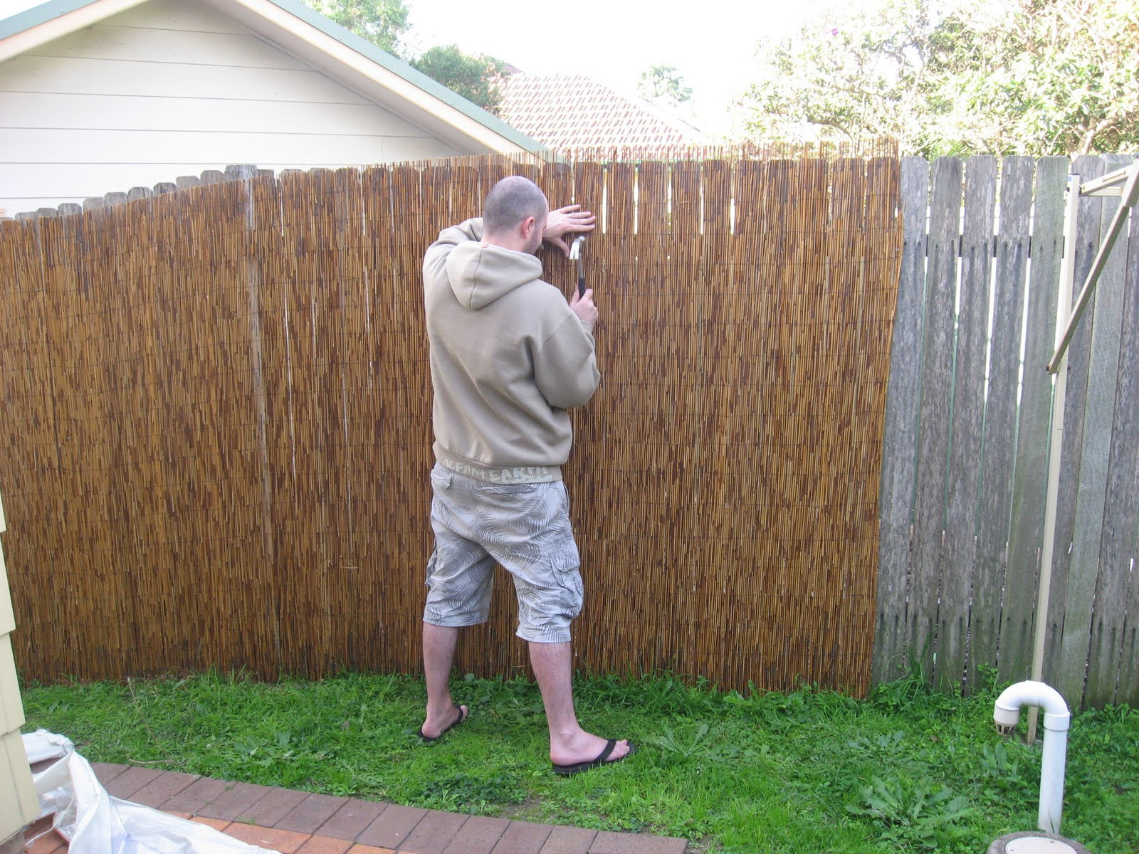 Privacy Fence Ideas For Backyard And Terrace Ducksdailyblog Fence for Cheap Backyard Fence Ideas