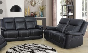 Red Barrel Studio Ahner 2 Piece Reclining Living Room Set Reviews pertaining to Black Leather Living Room Sets