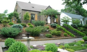 Slightly Slope Landscaping Ideas For Front Yard And Landscape inside Backyard Slope Landscaping