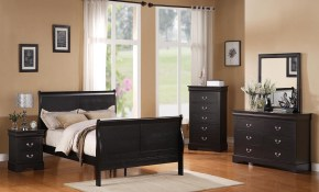 Standard Furniture Lewiston Panel Bedroom Set In Black throughout Modern Black Bedroom Sets