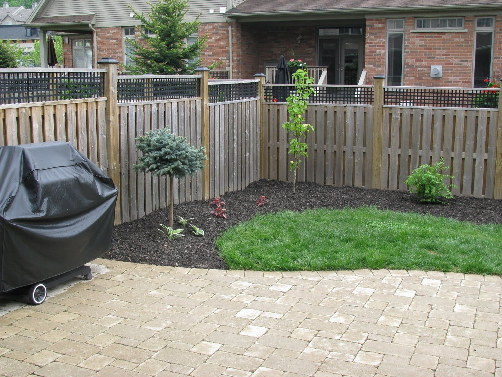 Townhouse Backyard Landscaping Ideas I Like The Color Of The Stone for Landscaping Small Backyards Townhouse