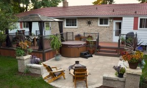 Unique Deck Over Concrete Patio Design Westernerieideas with regard to Backyard Decks And Patios Ideas