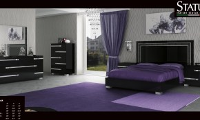 Volare King Size Modern Black Bedroom Set 5pc Made In Italy Ebay in Modern Black Bedroom Sets